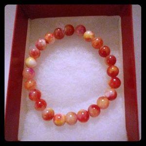 Jewelry - Red & Yellow Jade Stone Bracelet